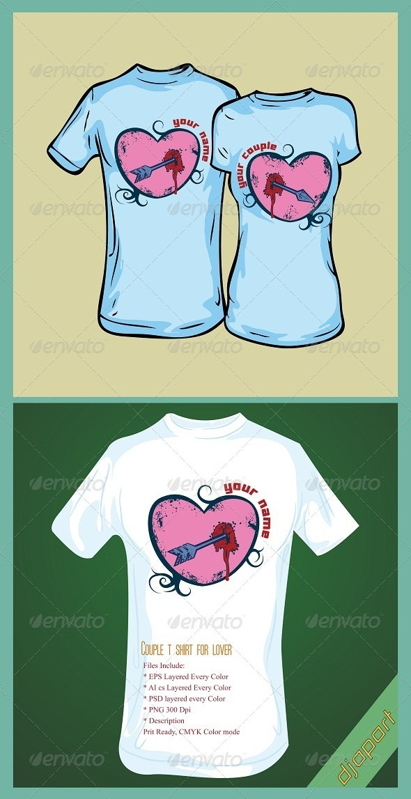 Couple lover t shirt design