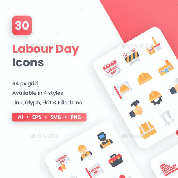 Labour Day Icons