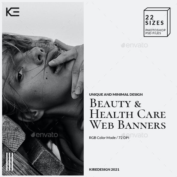 Beauty And Health Care Web Banners
