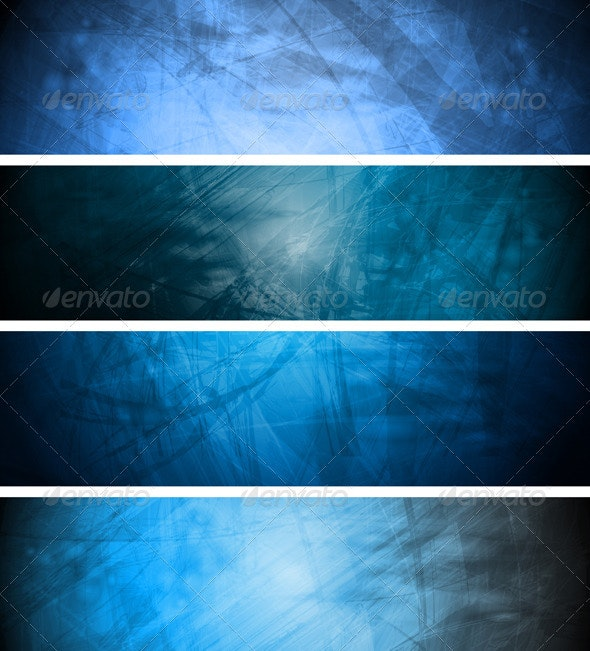 Blue textural backgrounds set - Backgrounds Decorative