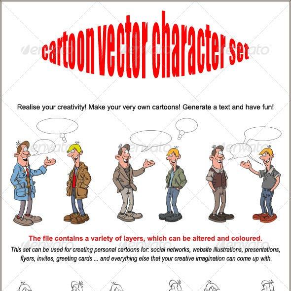 Cartoon Vector Character set