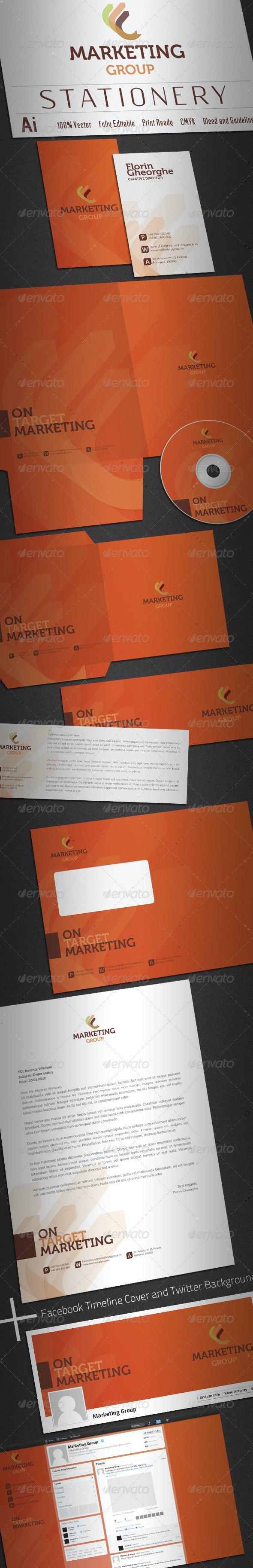 Marketing Group Stationery - Stationery Print Templates