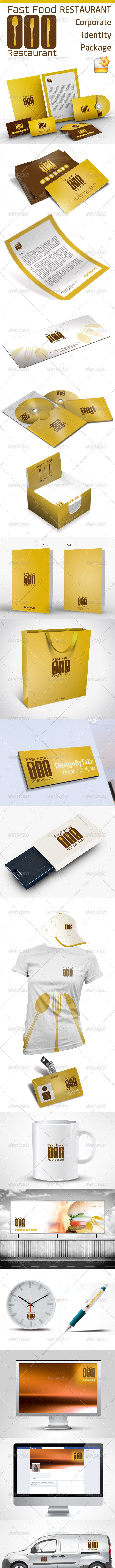 Fast Food & Restoran Corporate Identity Package - Stationery Print Templates