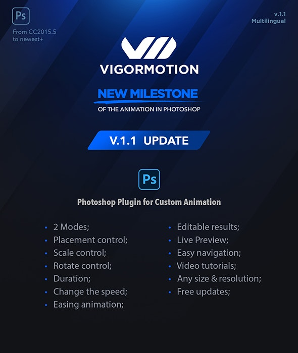 Vigormotion Photoshop Plugin for Animation - Utilities Actions