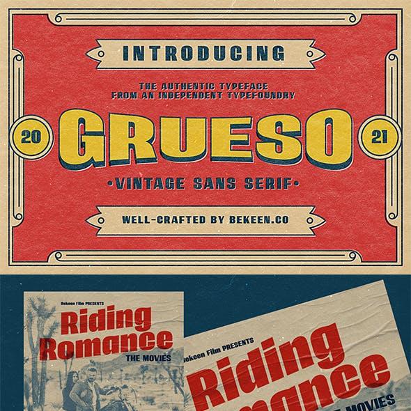GRUESO - Vintage Typeface