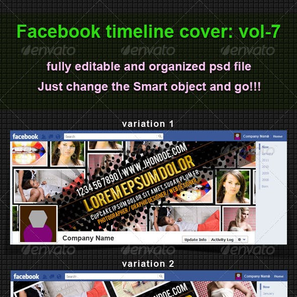 Facebook Timeline Cover Template 7