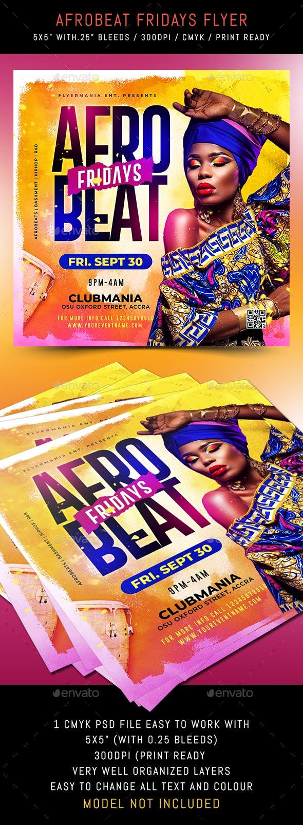 Afrobeat Fridays Flyer - Flyers Print Templates