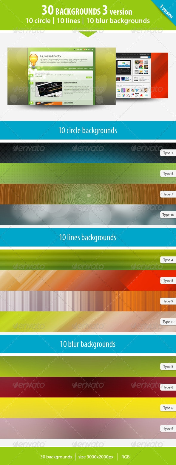 30 Backgrounds 3 version