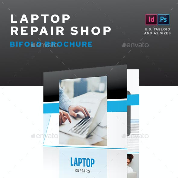 Laptop Repair Shop Bifold Brochure