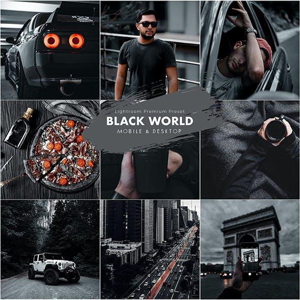 Black World Lightroom Preset (Mobile & Desktop)