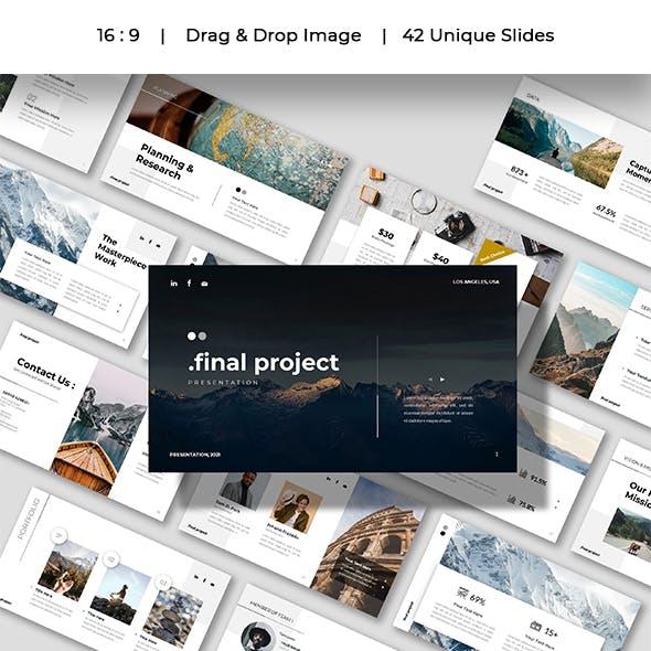 Final Project - Company Business Presentation Google Slides Template