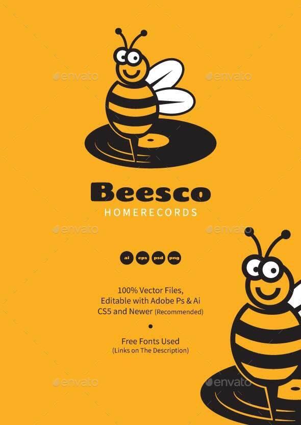 Bee Disco Music Records Logo - Animals Logo Templates