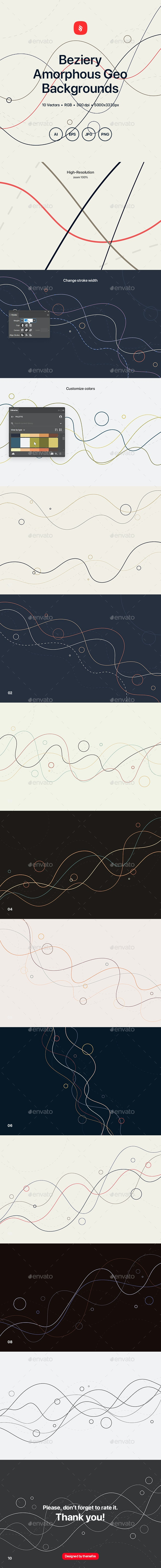 Beziery - Amorphous Geometric Backgrounds - Abstract Backgrounds
