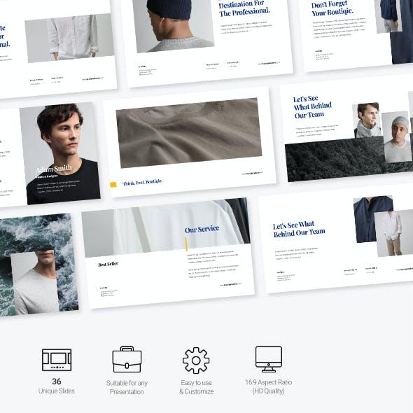 Boutique - Fashion Business Presentation Powerpoint