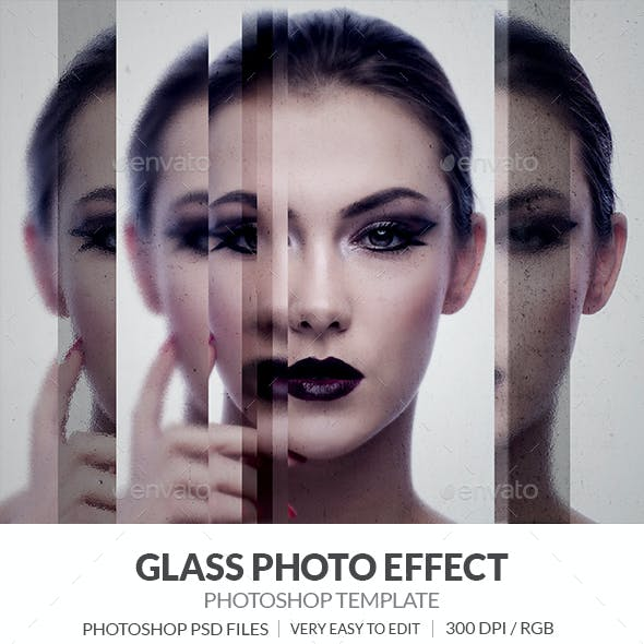 Glass Photo Effect Template