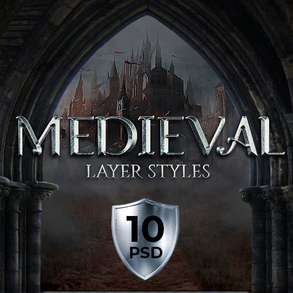 Medieval Photoshop Styles