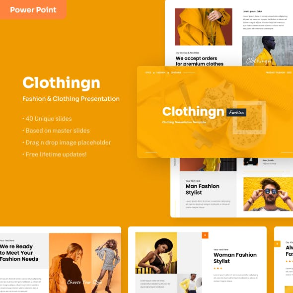 Clothingn - Fashion & Clothing Power Point Presentation