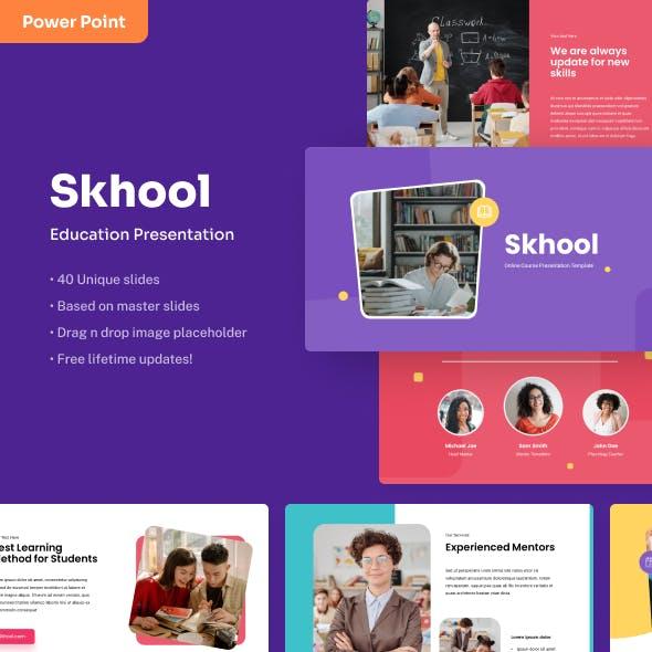 Skhool - Education Power Point Presentation