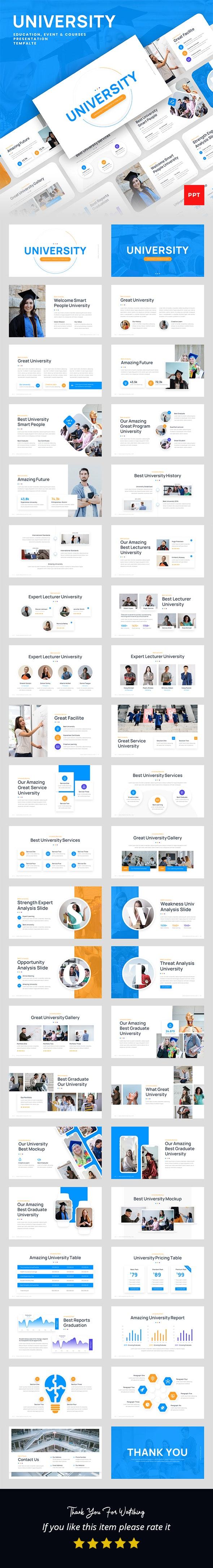University - Education, Event & Course PowerPoint Presentation Template - Business PowerPoint Templates