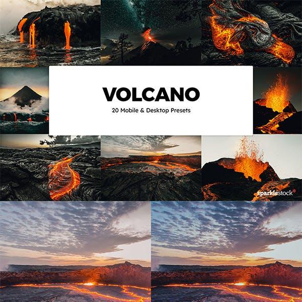 20 Volcano Lightroom Presets & LUTs