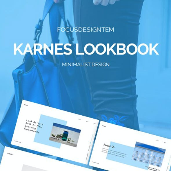Karnes Look Book Google Slides Template