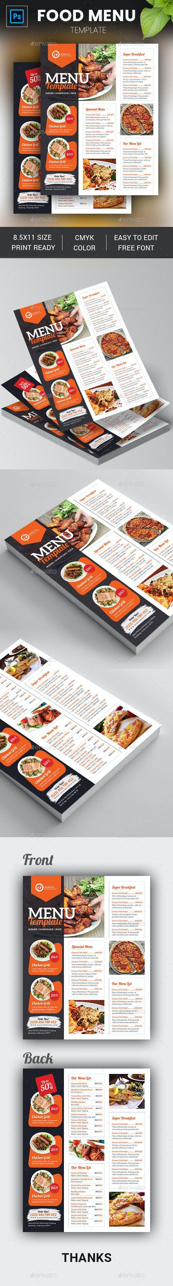 Food Menu Template - Restaurant Flyers