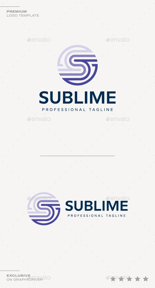 Letter S - Sublime Logo - Letters Logo Templates