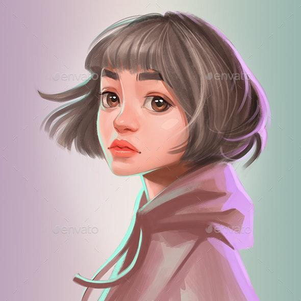 Pretty Girl Avatar - Hero Images Graphics