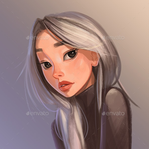 Cute Girl Character - Illustrations Graphics