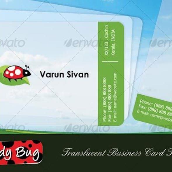 Lady Bug Translucent Business Card