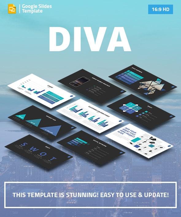 DIVA - Marketing Google Slides Pitch Deck - Google Slides Presentation Templates
