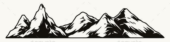 Vintage Mountain Range Template - Nature Conceptual