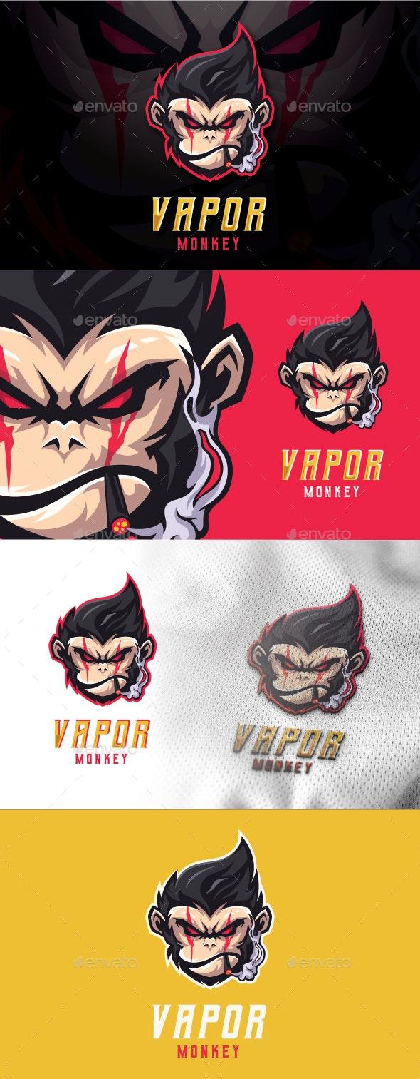 Vapor Monkey Mascot Esport Logo - Animals Logo Templates