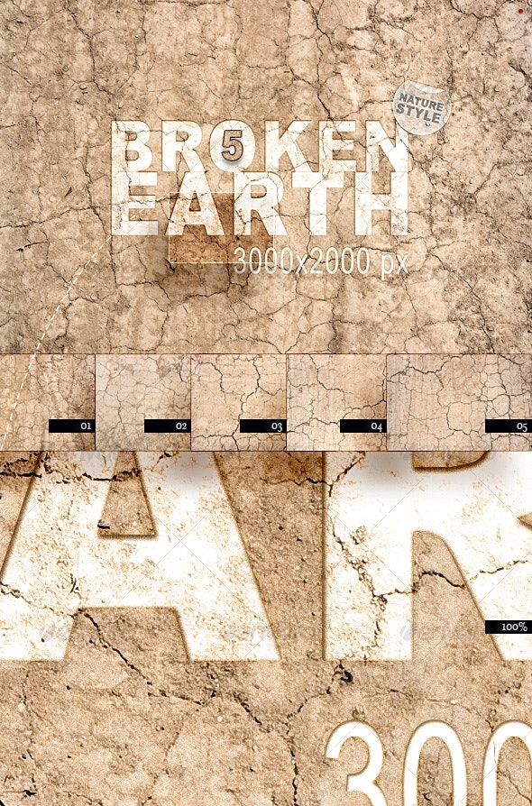 Broken Earth – Nature Style - Miscellaneous Textures