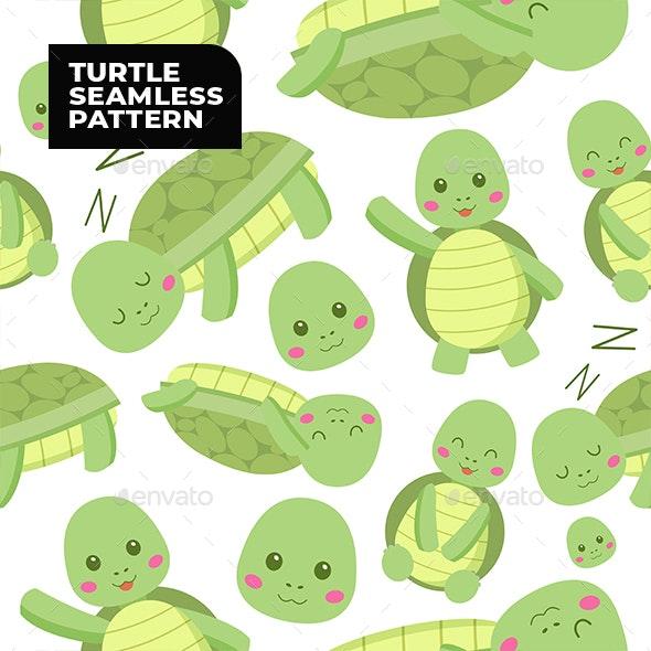 Turtle Seamless Pattern - Patterns Decorative