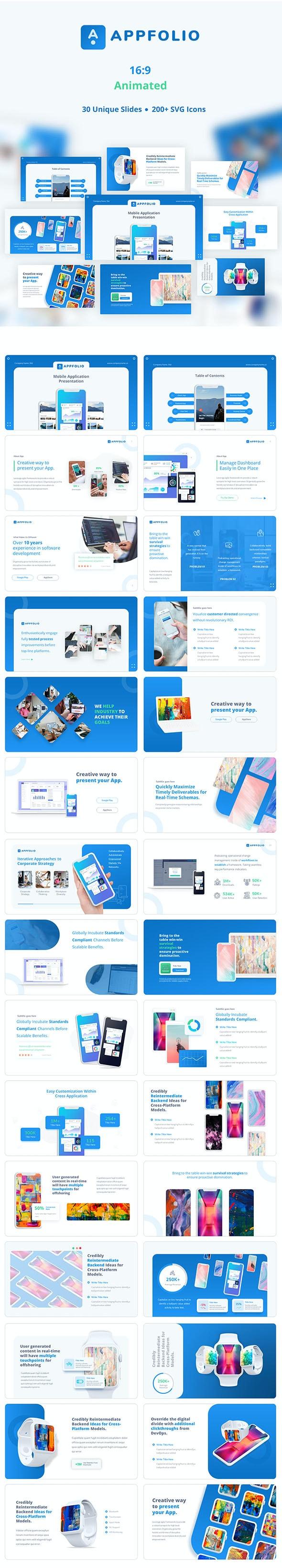 AppFolio – Portfolio Presentation Mockup - Business PowerPoint Templates
