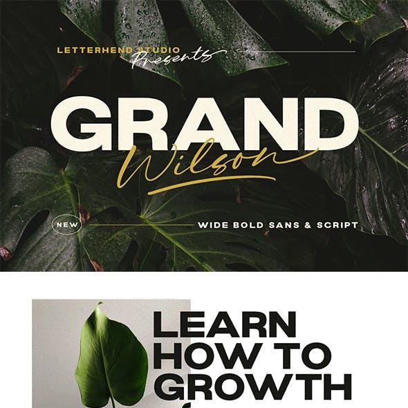 Grand Wilson - Font Duo