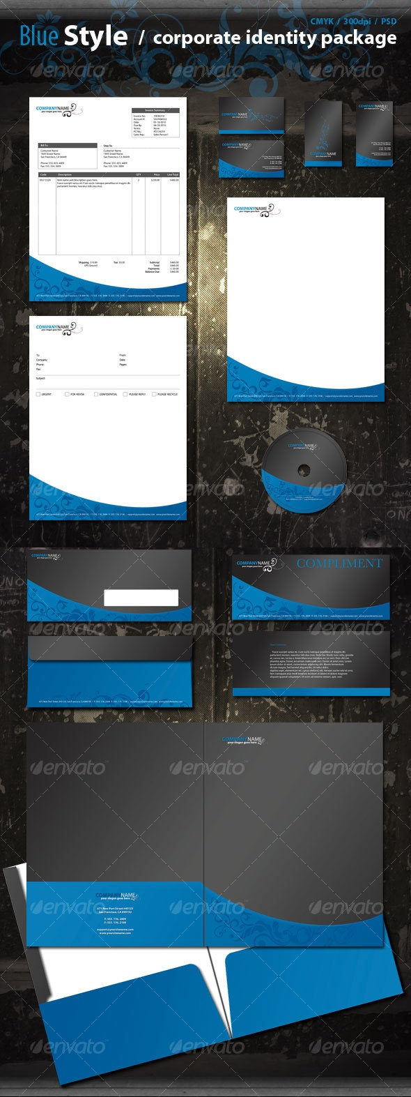 Blue Corporate Pack - Stationery Print Templates