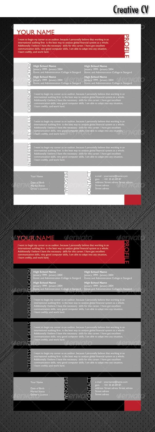Creative CV - Resumes Stationery