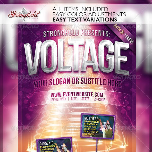 Voltage Party Flyer Template