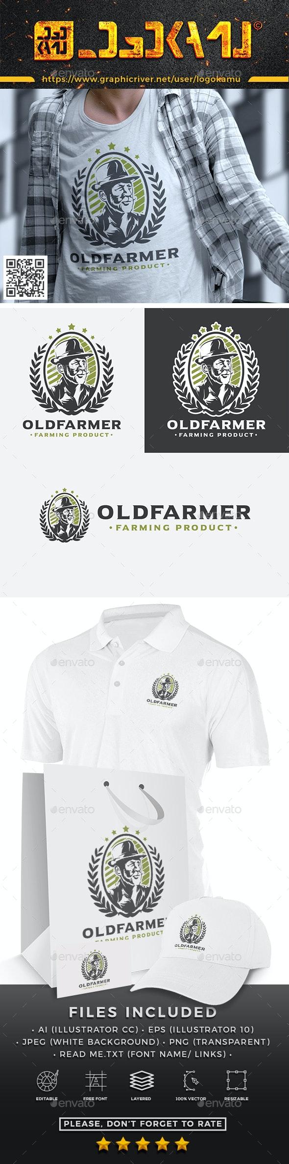 Old Farmer Logo - Humans Logo Templates
