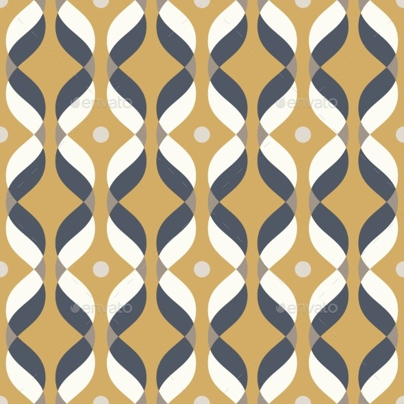 Ogee Seamless Vector Curved Pattern Abstract - Abstract Illustrations