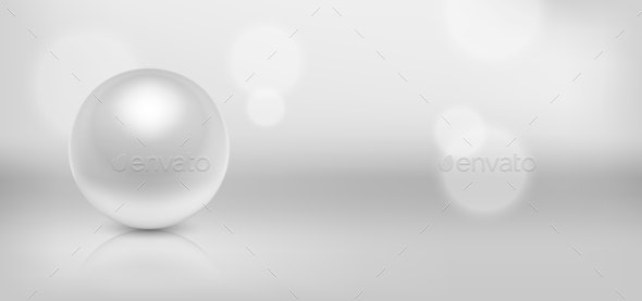 Vector 3d Realistic Beautiful Natural White Pearl - Backgrounds Decorative