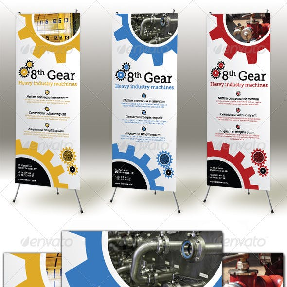 Industry Machines Roll-up Banner