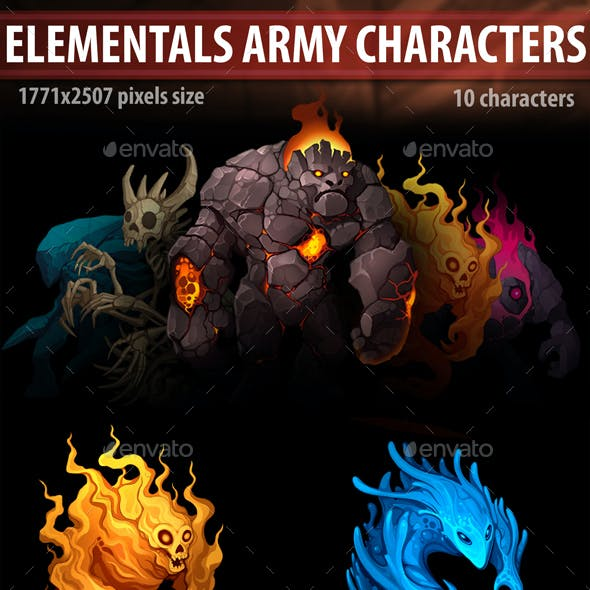 Elementals Army Characters