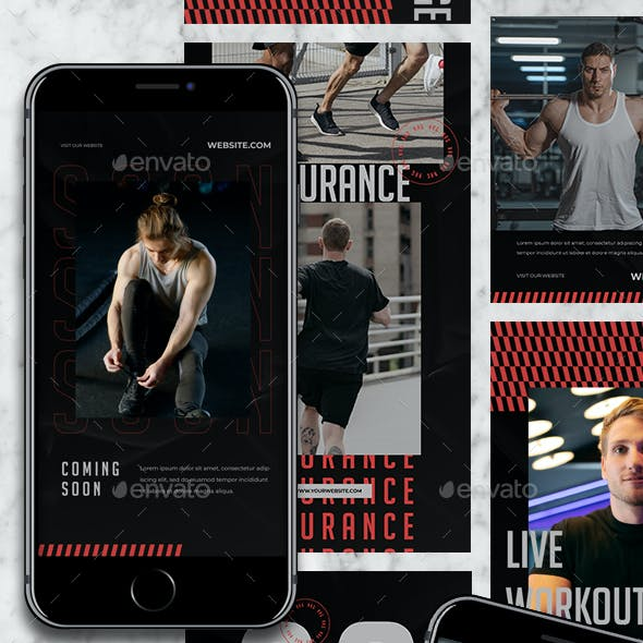 NRG - Gym and Fitness Instagram Templates