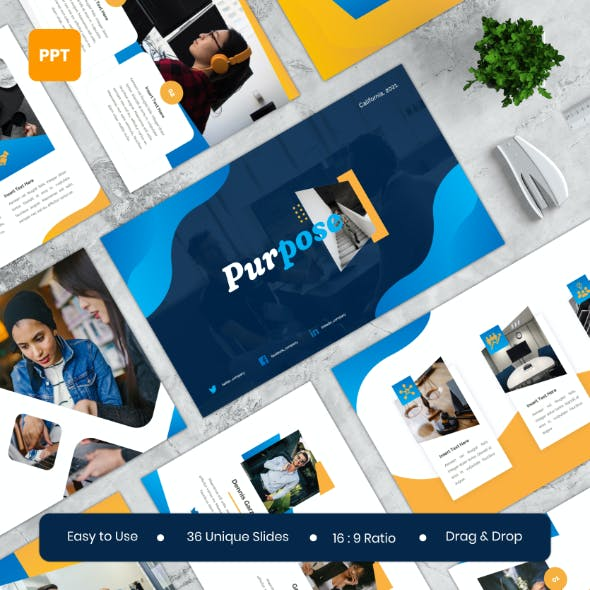 Purpose - Business PowerPoint Template