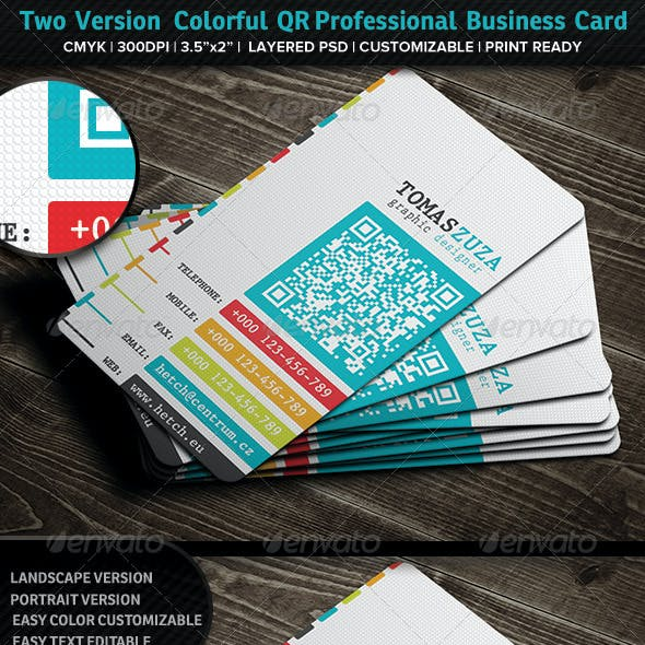 Two Version Colorful QR Professional Business