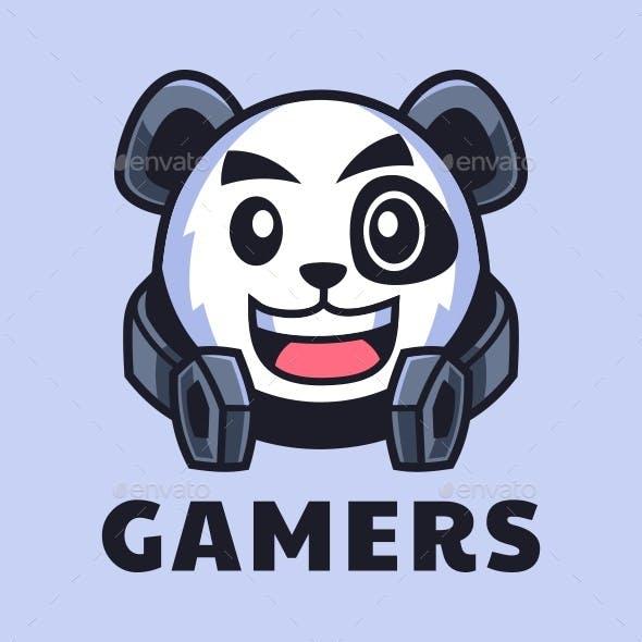 Gamer Panda cartoon character
