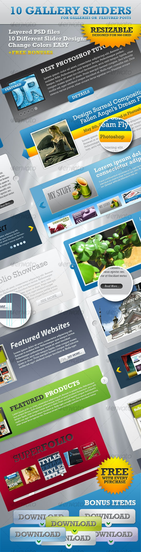 Gallery Slideshows - Web Elements